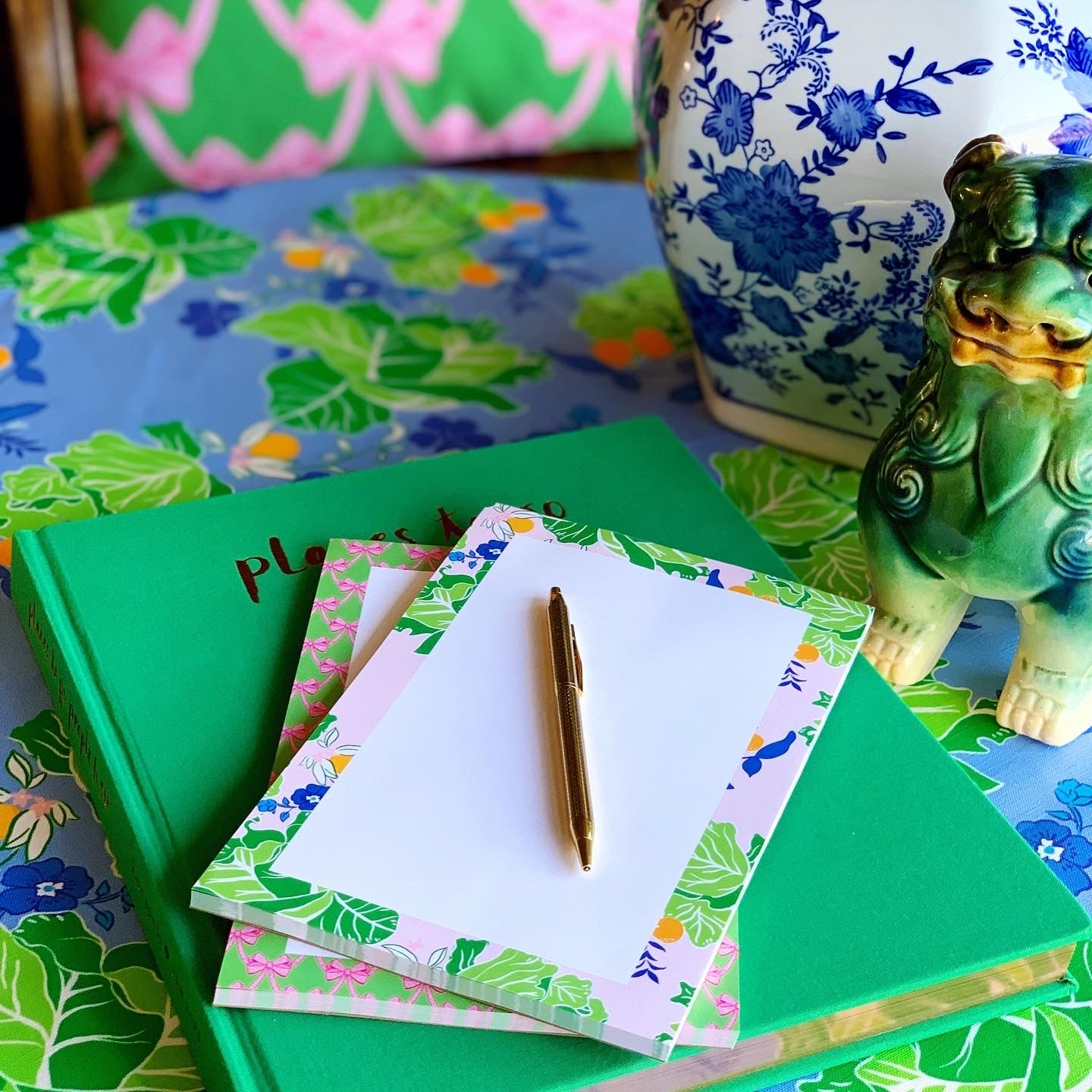 Preppy with a twist, these cheery notepads from Katie ...