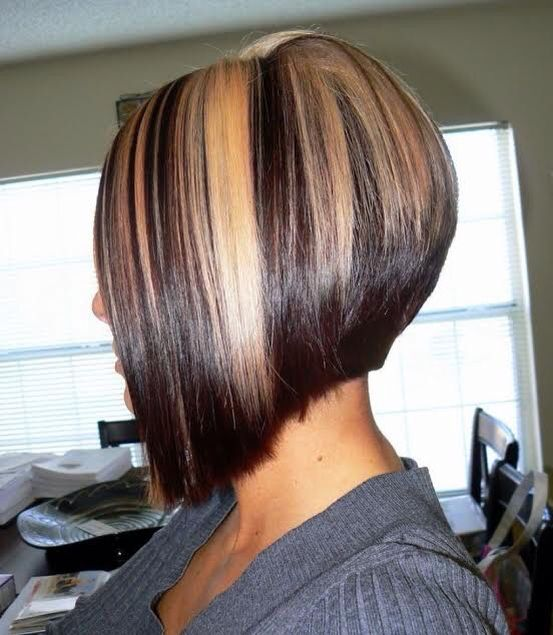 Short Hair With Chunky Thick Highlights Hair Pinterest Thick