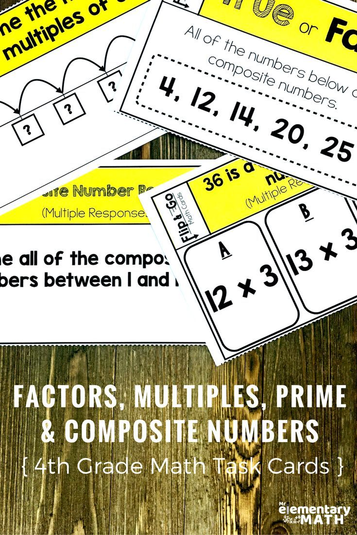 Factors multiples prime and composite numbers task cards 4th grade factors multiples prime and composite numbers task cards 4th grade math centers robcynllc Image collections