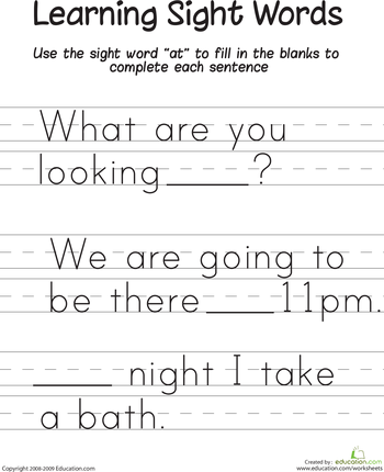 Free Dolch Pre Primer Sight Words Flash Cards, Worksheets, and ...