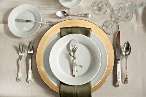 DIY Hammered Spoon Place Cards and a great table setting
