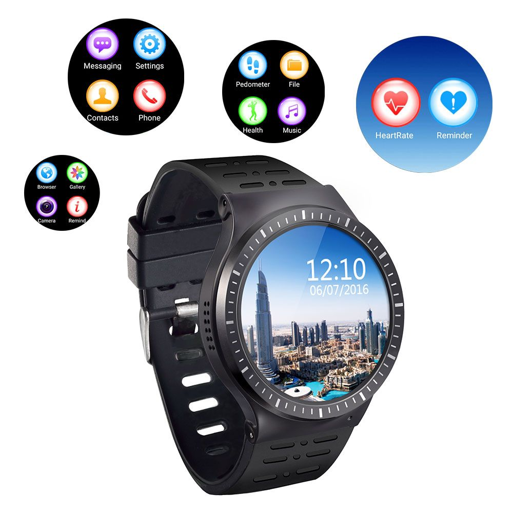 camping dinner S99A Quad Core 3G Smart Watch Android 2.0MP