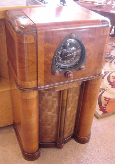 Zenith Art Deco Radio Console Art Deco Furniture Antique Radio Art Nouveau Furniture