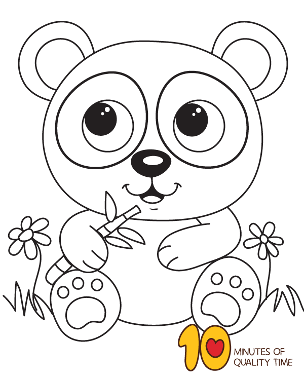 Coloring Page Of Panda Bear