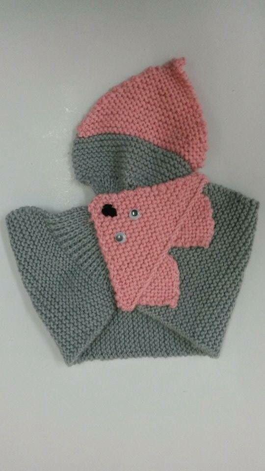 لفحة بناتي شكل الثعلب Knitted Scarf Knitted Scarf