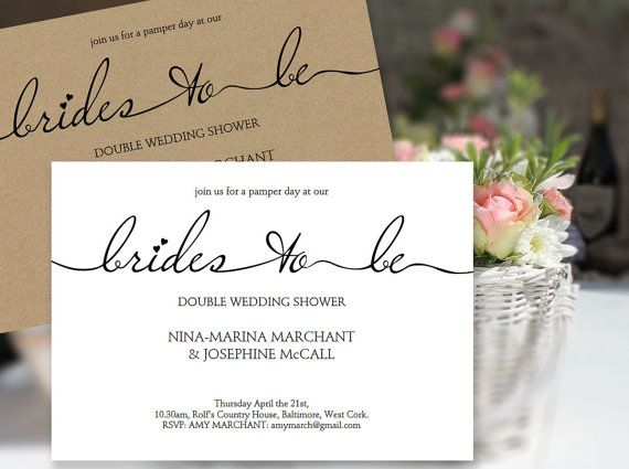 Brides To Beu0027 Invitation Template - great for your same sex double - printable wedding shower invitations templates