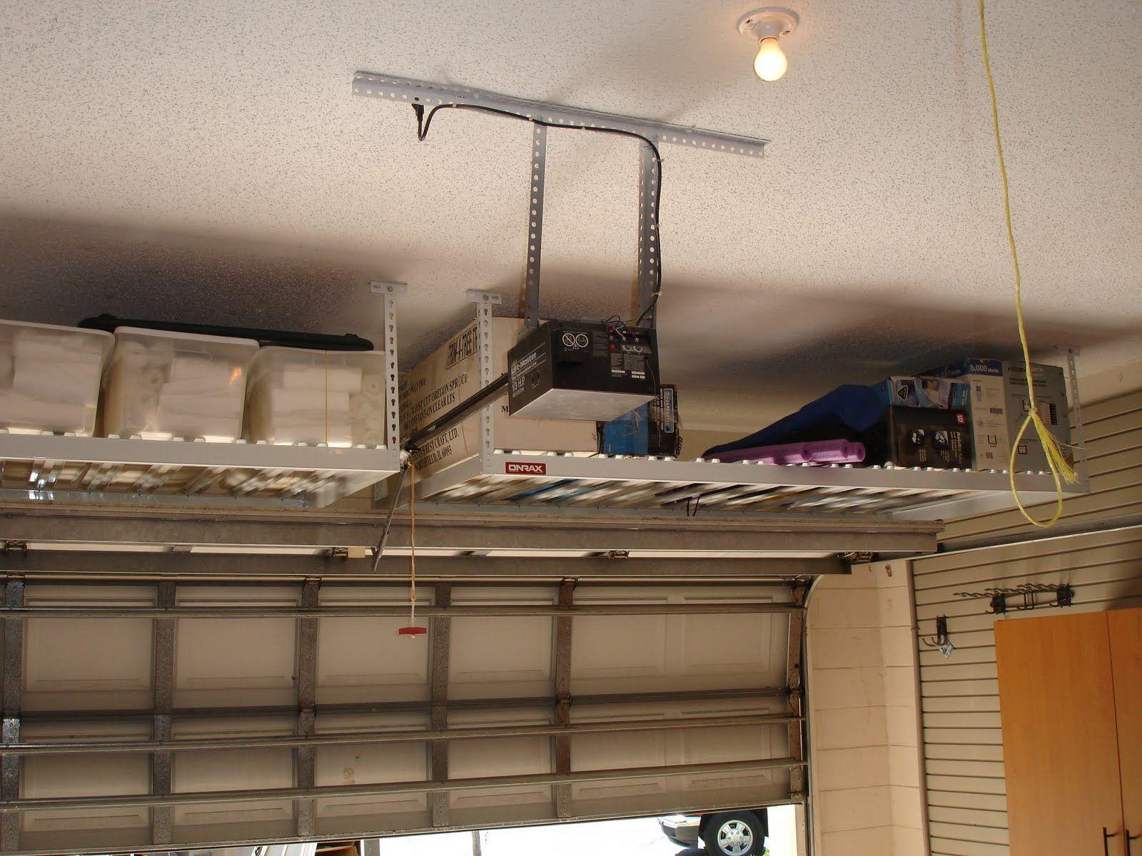 Garage Overhead Storage Google Search Diy Overhead Garage Storage Garage Storage Bins Ceiling Storage Rack