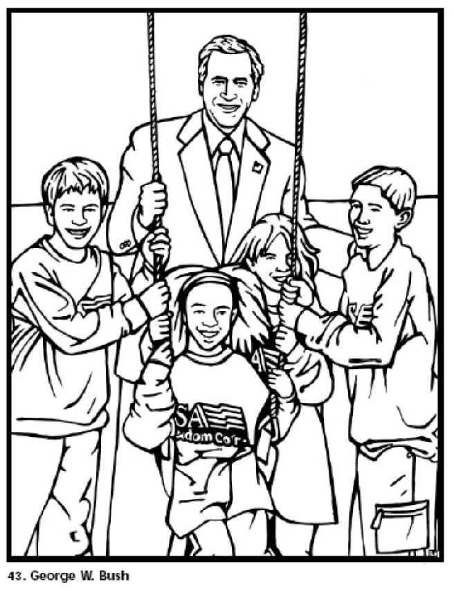 Free Printable President George W Bush Coloring Pages