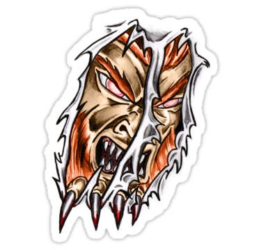 Tearing monster sticker inspired by #Sabretooth . #Stickers #Fanart on Redbubble