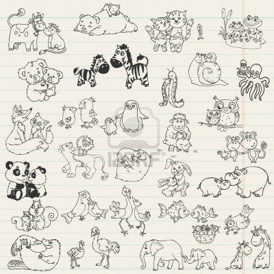 Baby Animals With Moms Hand Drawn In Vector Momma Bear Tattoo Baby Tattoos Baby Animals