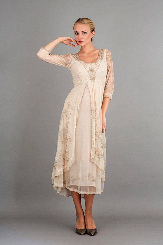 Nataya downton abbey tea party gown in pearl elegant bridal