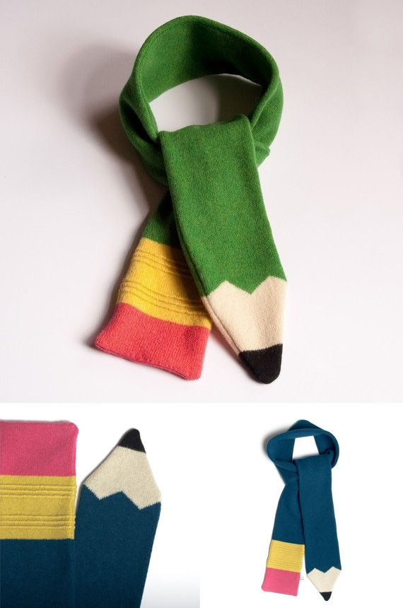 A Pencil scarf for a special teacher would be an adorable gift in ...