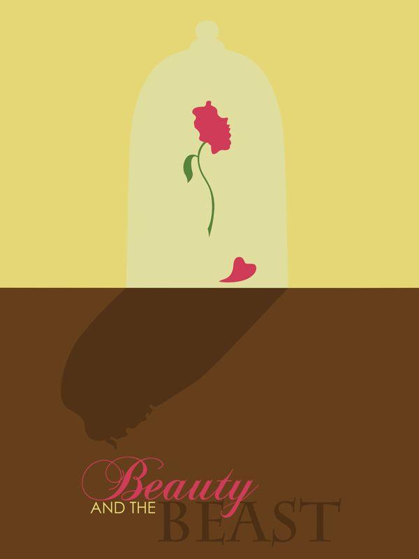 La bella y la bestia - Disney Minimalist Poster #disney #minimalist