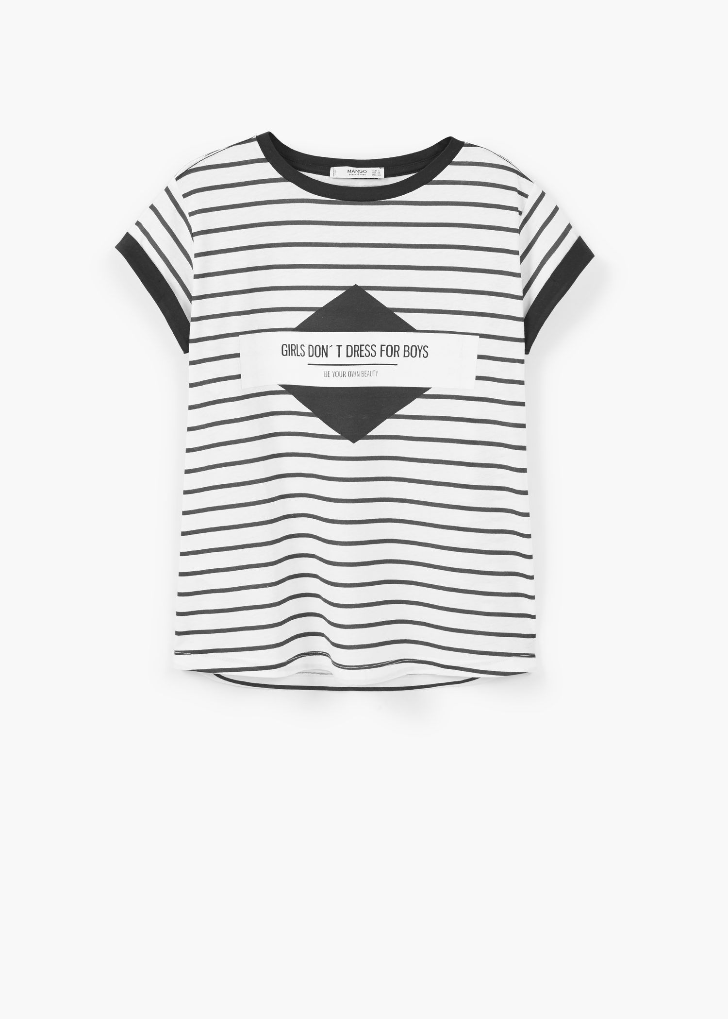 Printed cotton-blend t-shirt - T-shirts for Woman | MANGO United Kingdom