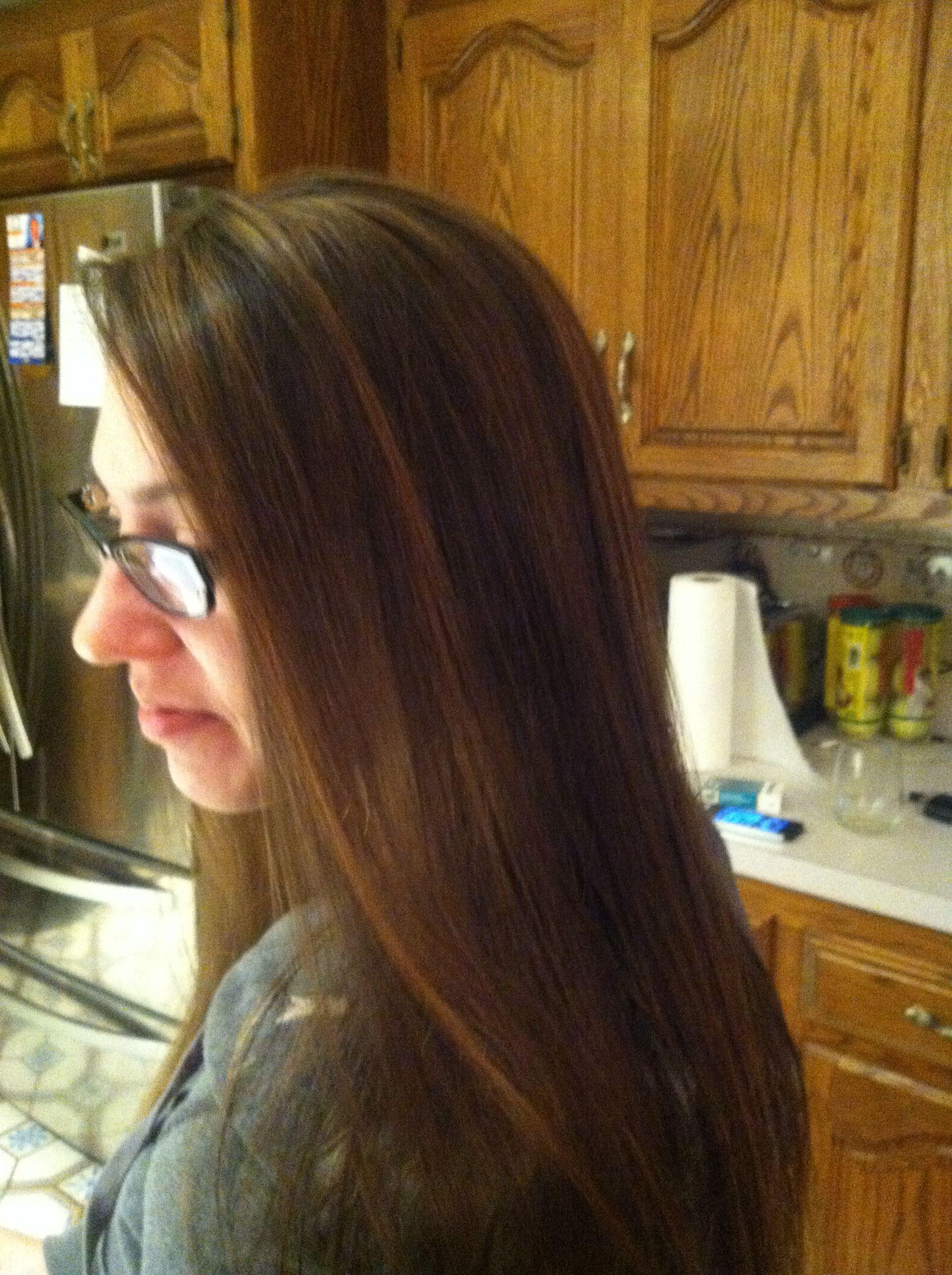 Caramel Highlights On Natural Brown Hair Kaliedekolors In Tan