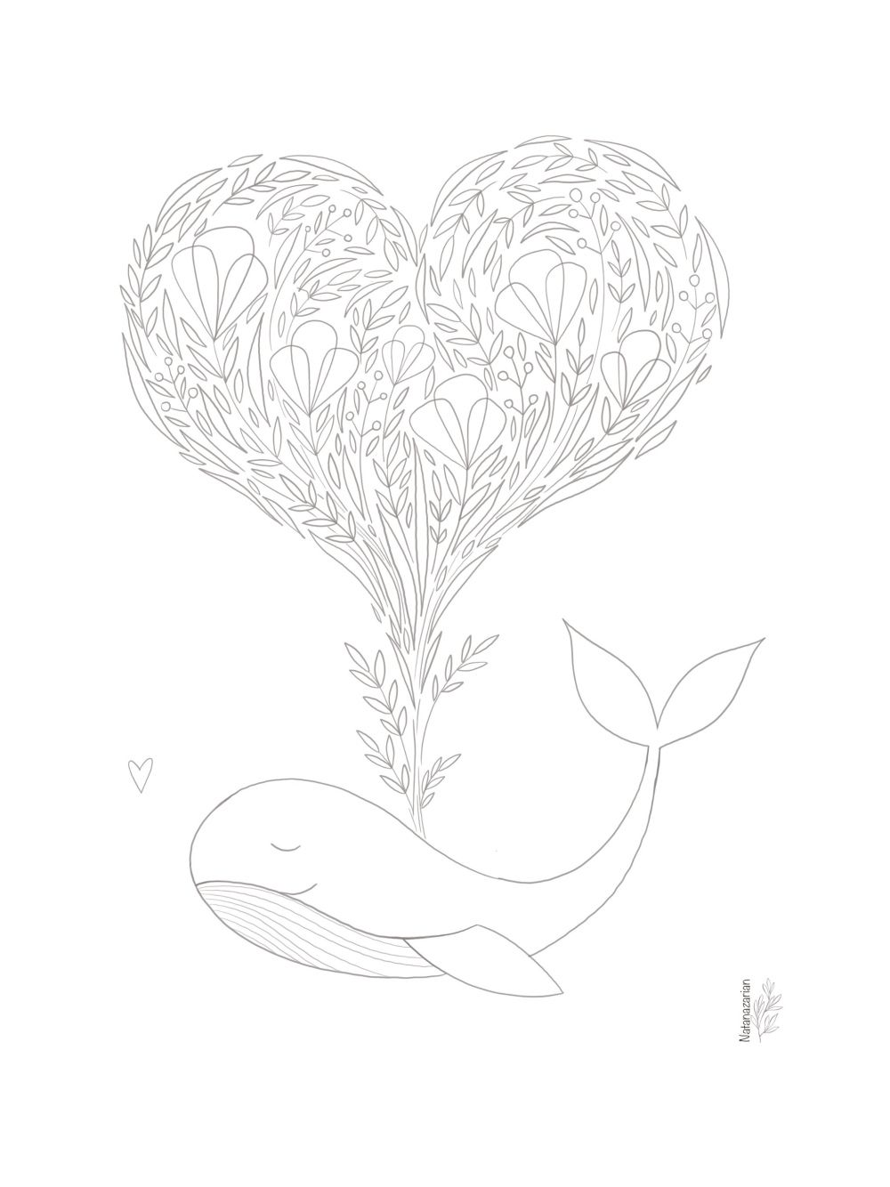 Whale In Love Free Coloring Page Free Coloring Pages Whale Coloring Pages Love Is Free