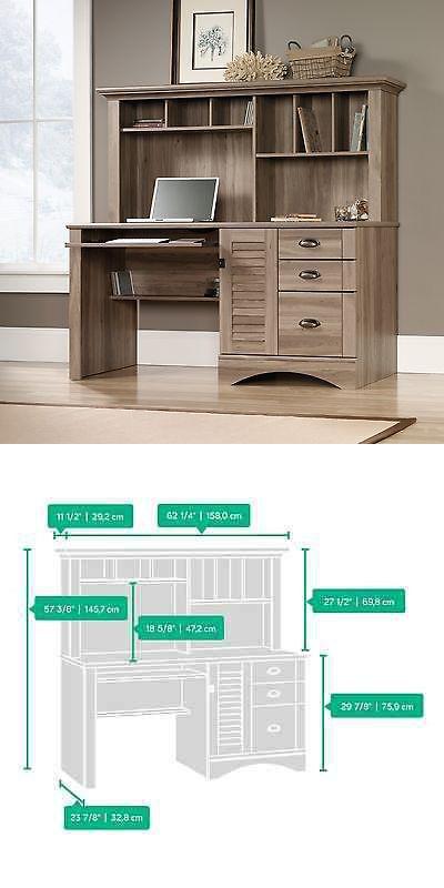 Desks And Home Office Furniture 88057: Computer Desk With Hutch   Salt Oak    Harbor