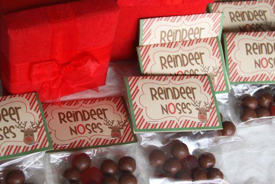 reindeernoses and free printable for reindeer food   Christmas ...