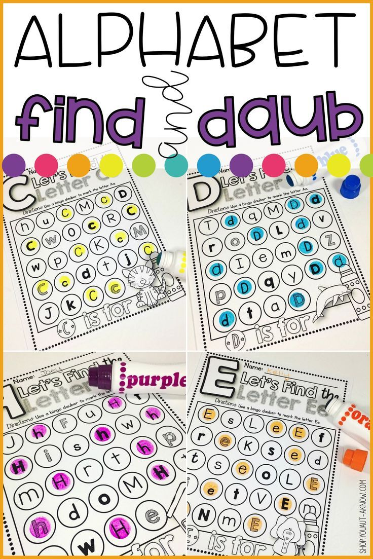 Alphabet find and daub letter identification activities letter practice identifying letters with this letter identification activity perfect generalization activity for any special education classroom thecheapjerseys Images