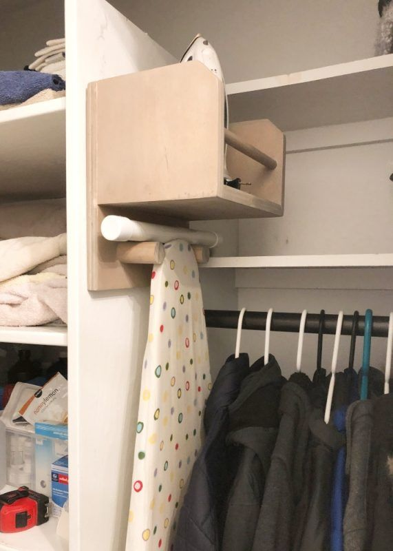 DIY Iron and Ironing Board Holder for Stylish Laundry Organization