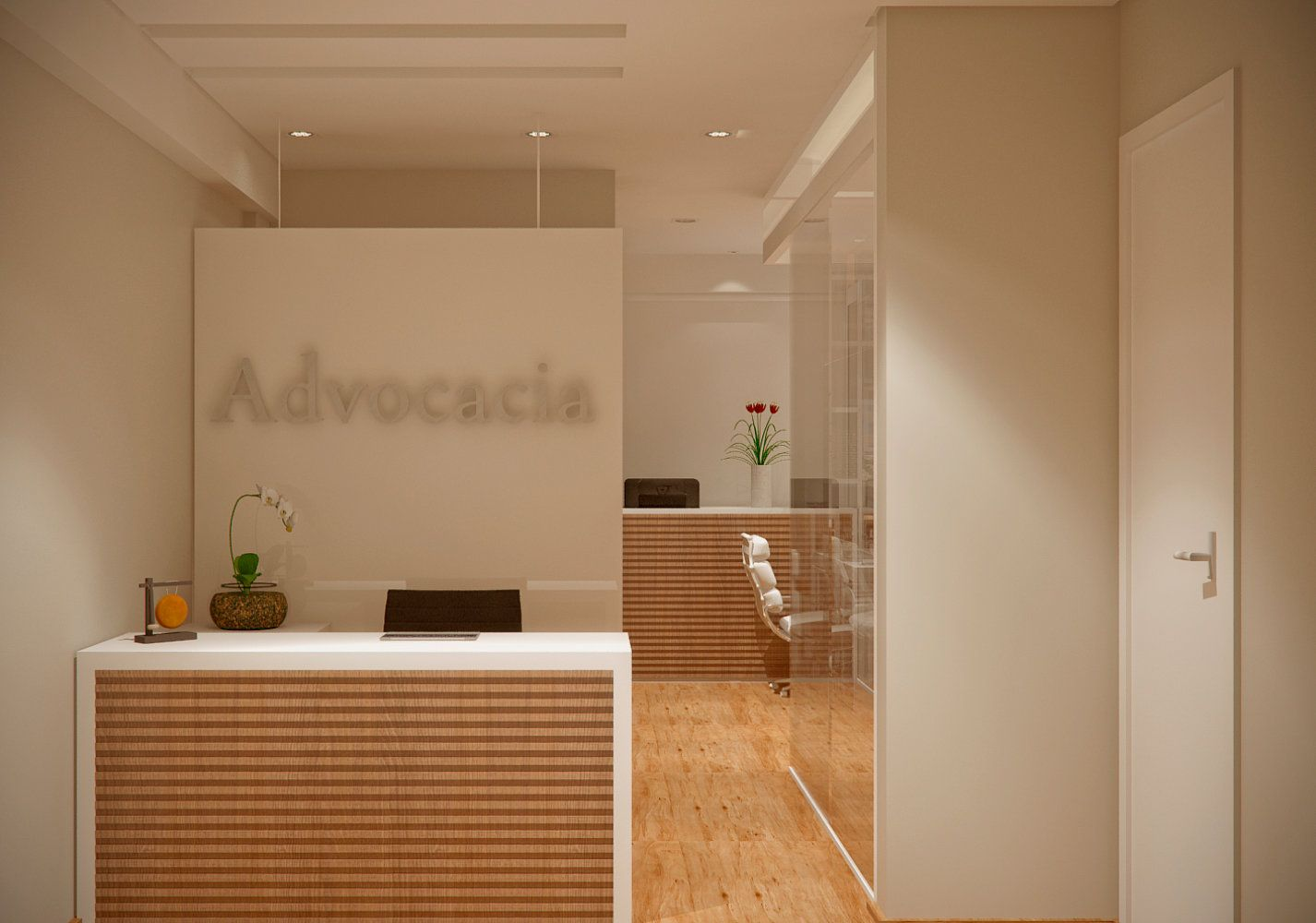 Projeto de arquitetura escrit rio de advocacia reforma - Reforma de interiores ...