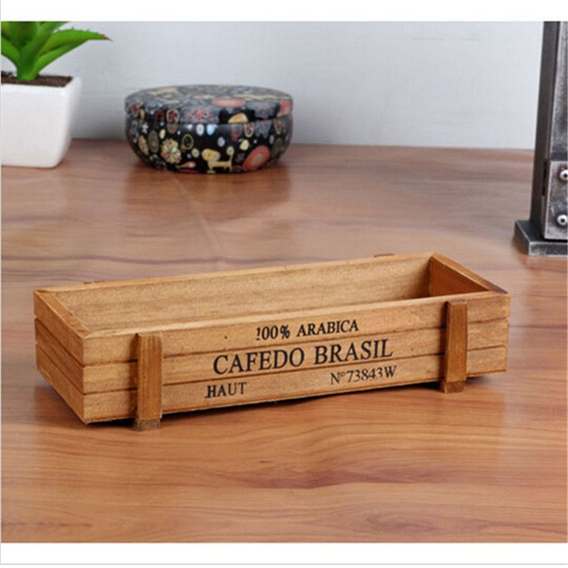 Photo of US $8.66 |Antique Wooden Table Sundries Container Cosmetics Storage Box Home Multifunctional Flowerpot Office House|box home|storage boxcosmetic storage box – AliExpress