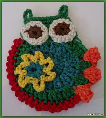 Uil Applicatie Crochet My Crochet Work Pinterest Zon Het