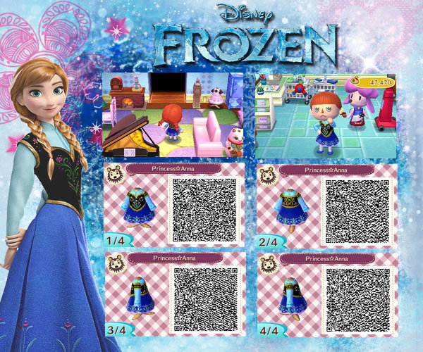 Frozen Animal Crossing QR Codes | YAYOMG!