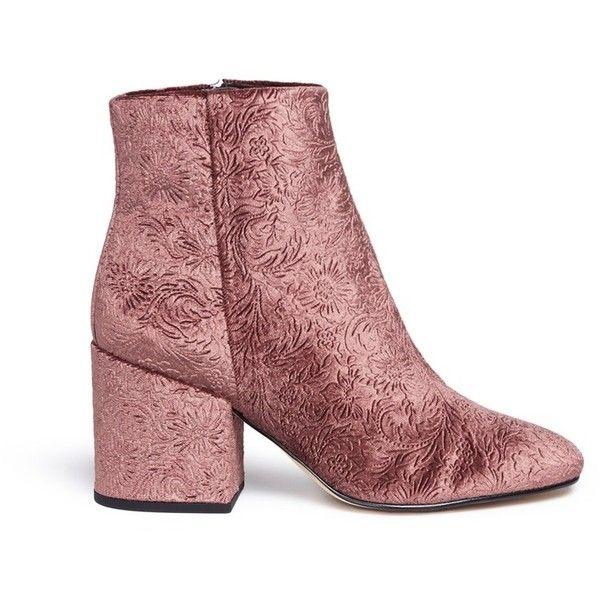 8114fb607974 Sam Edelman  Taye  floral jacquard velvet ankle boots ( 112 ...