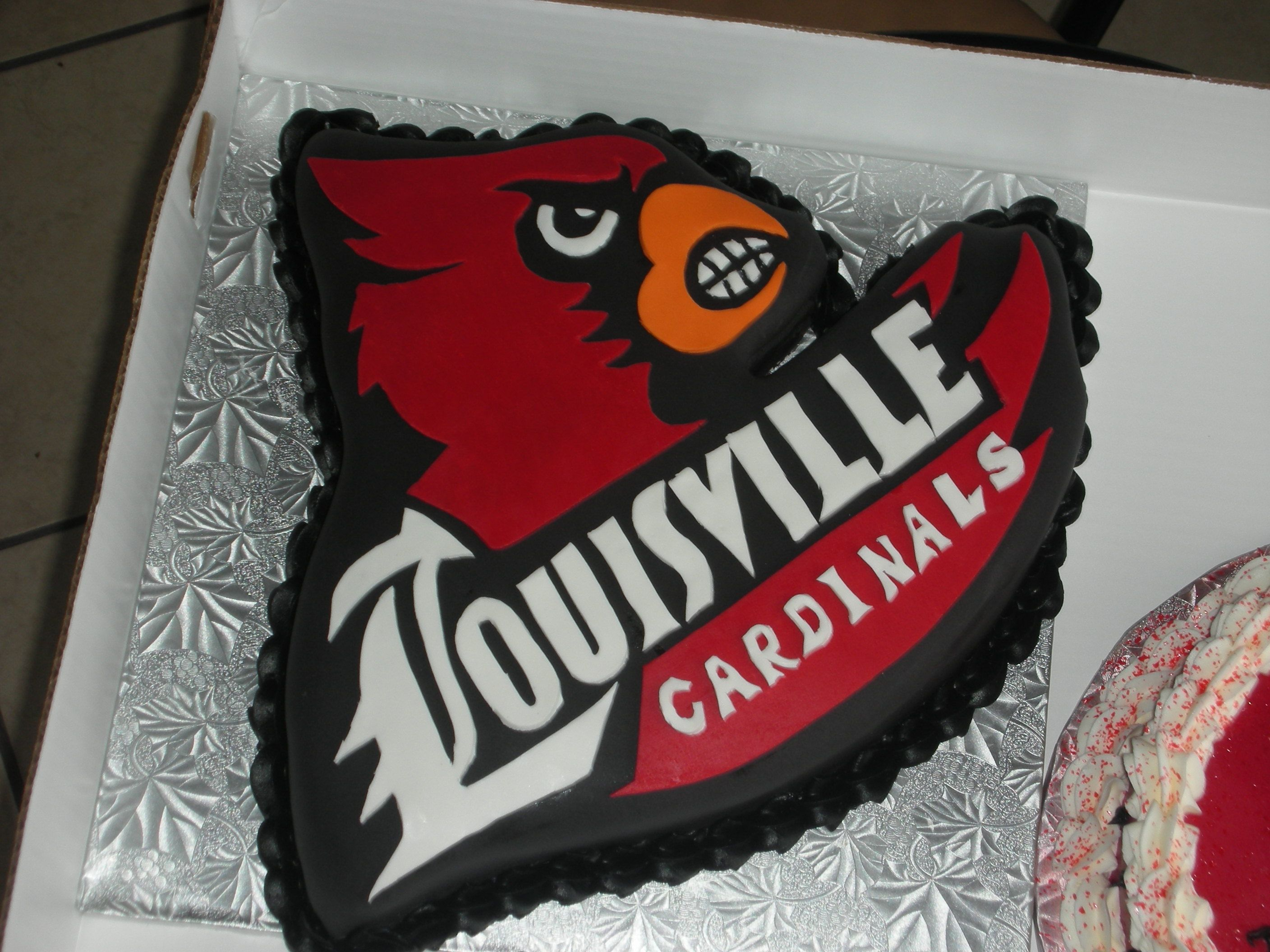 Incredible Louisville Cardinal Cake Louisville Cardinals Funny Birthday Cards Online Chimdamsfinfo