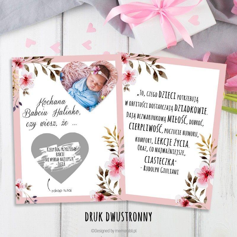 Zdjecie W Serduszku Z Ramka Rozowa Kartka Zdrapka Dla Babci I Dziadka Frame Book Cover Decor