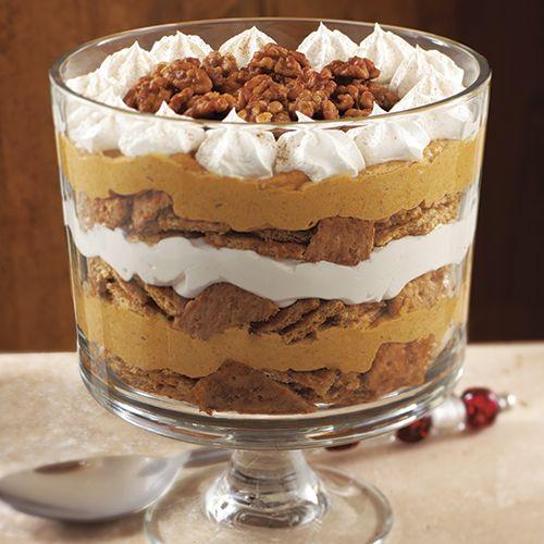 Pumpkin Maple Cream Trifle Recipe Trifle Bowl Recipes