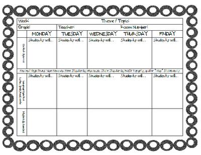Ell Planning Sheet Classroom Pinterest School Teacher And
