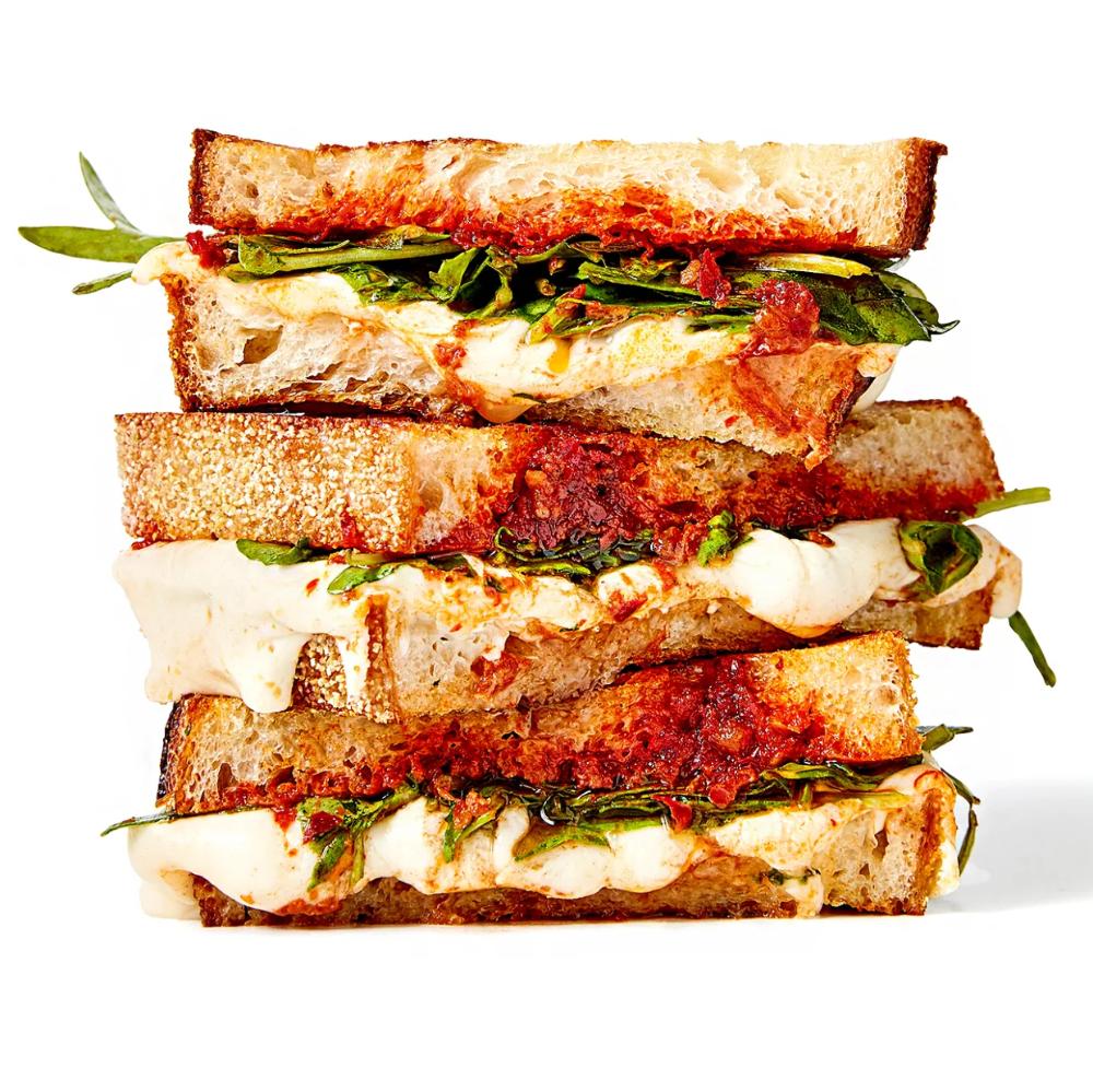 Salami Mozzarella Grown Up Grilled Cheese Recipe In 2020 Sandwiches Grilled Cheese Recipes Mozzarella Sandwich