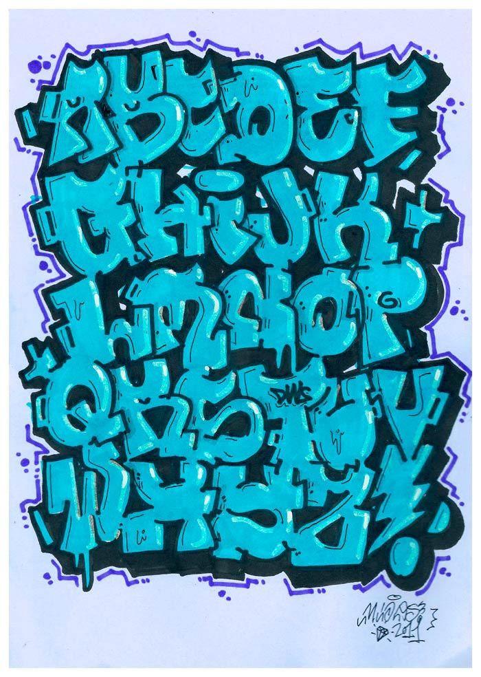 Letras de graffiti alphabetty graffiti d pinterest fontes aquarela e desenhos - Bombe de graffiti ...