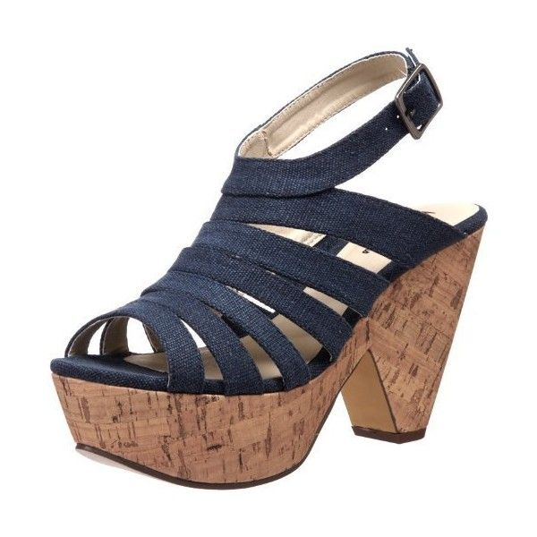 Michael Antonio Women's Galactic Wedge Sandal (90 BRL) ❤ liked on Polyvore featuring shoes, sandals, wedge heel sandals, galaxy print shoes, wedge sole shoes, michael antonio and wedge heel shoes