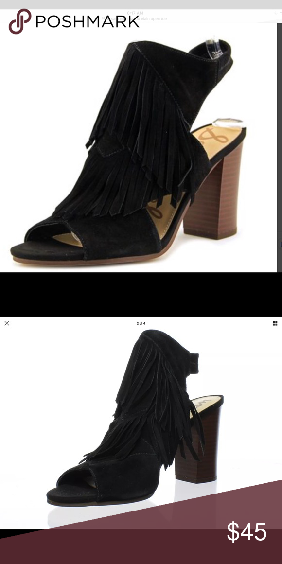 886fb289c4d Sam Edelman Elaine sandal open toe with fringe Size 6 Sam Edelman sandal  black with fringe. Great condition worn 1x super comfortable Sam Edelman  Shoes ...