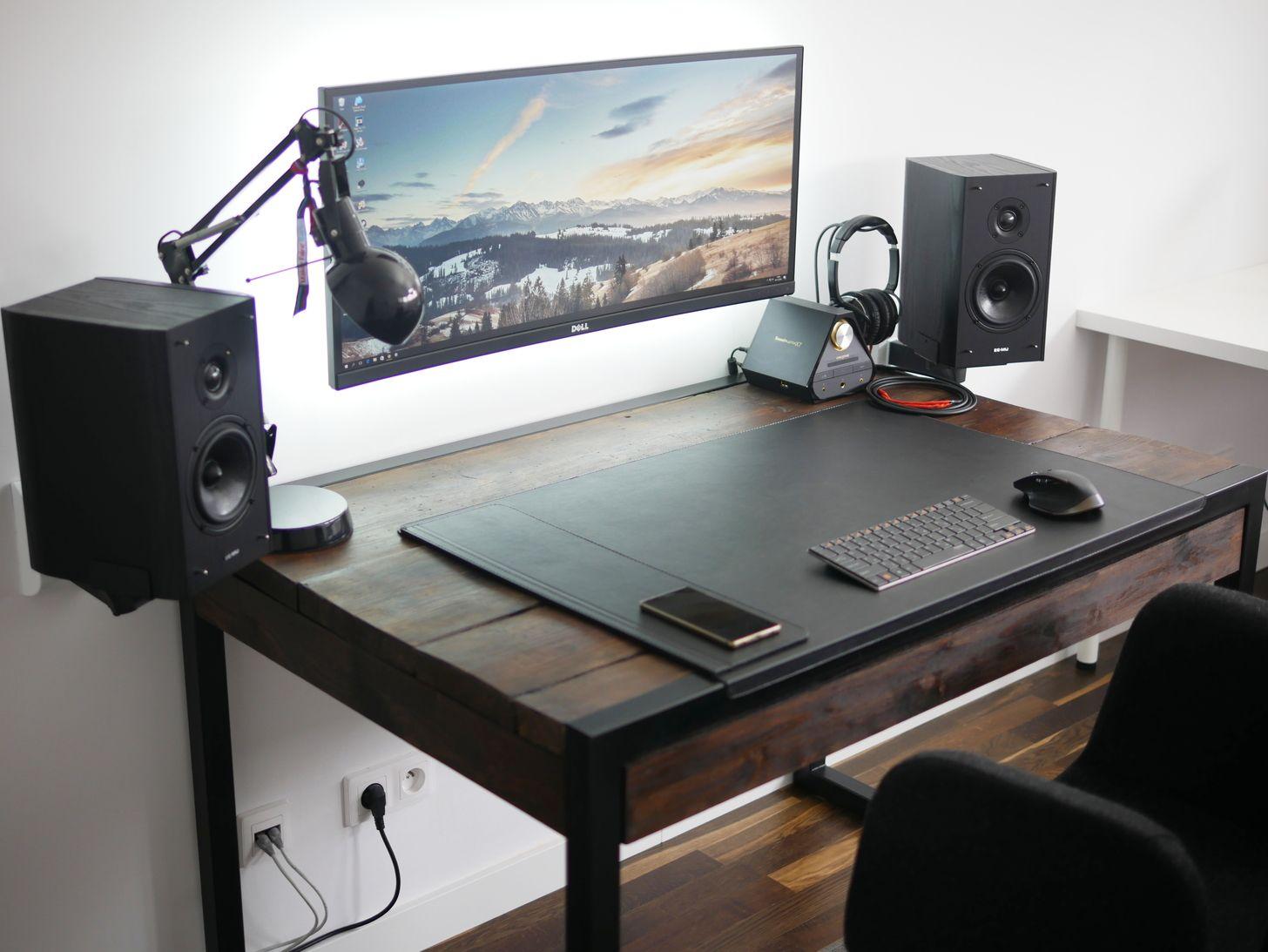 My Highly Minimal Home Office Computer Desk Design Office Setup