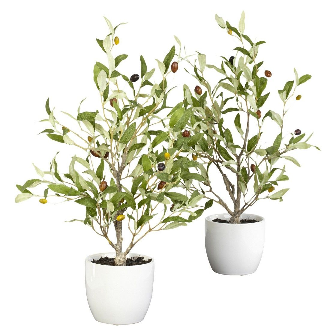 "Nearly Natural Art Plant Olive - Green (18"")"