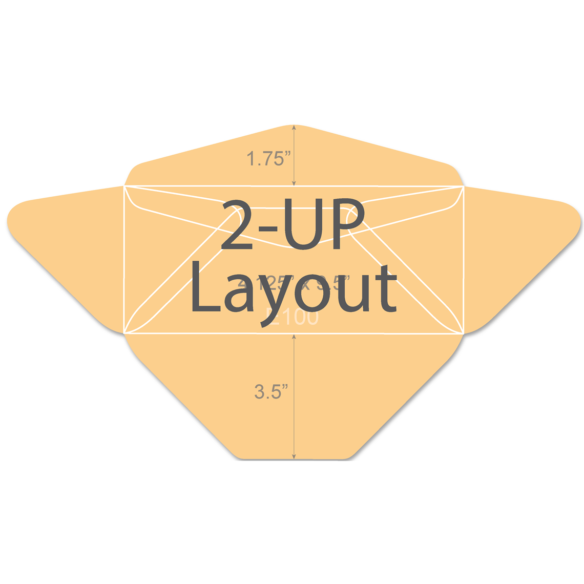 Picture Of 10 Diagonal Side Seam Envelope W 1 75 Seal Flap 2 Up Layout E100 Layout Ci Design Envelope