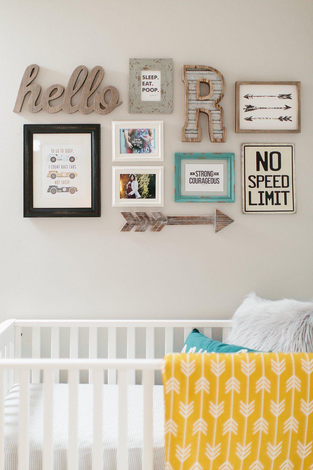 40 Ways To Bring Your Gallery Wall To The Next Level Baby Boys Wall Nursery Wall Decor Boy Boys Wall Decor