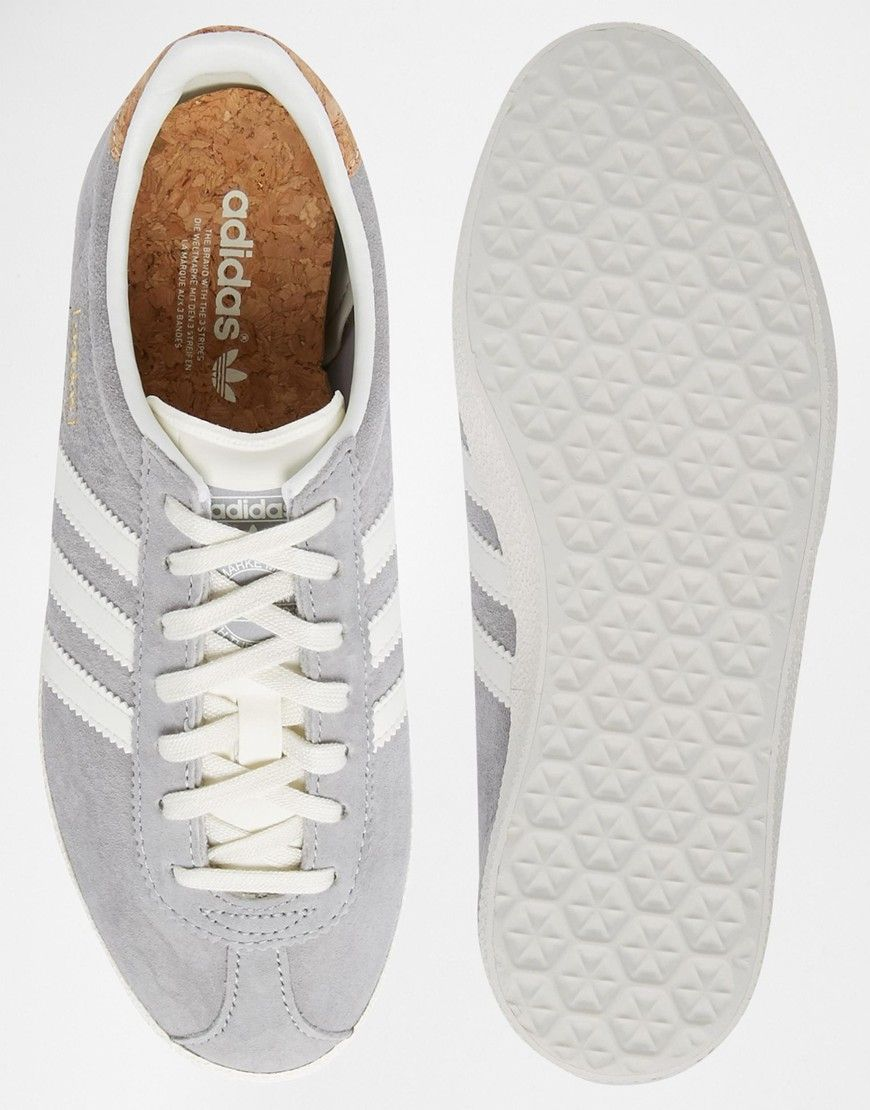 special section new products presenting Image 3 of adidas Originals Gazelle OG Solid Grey Trainers ...