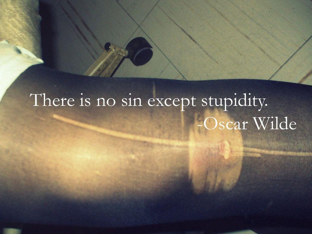 No Sin Except Stupidity 3 Inspiration Pinterest Oscar Wilde