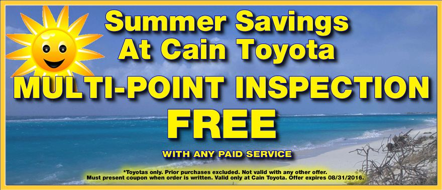 Get a FREE MultiPoint Inspection with any paid service by