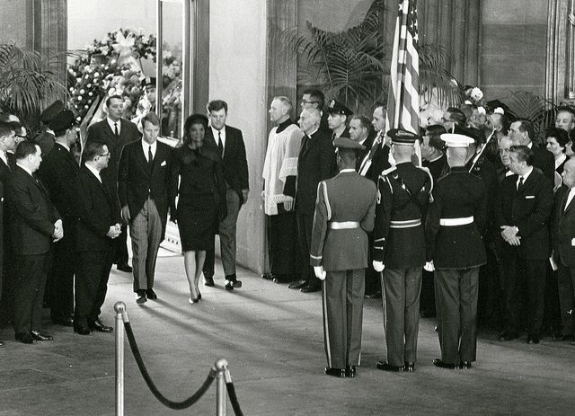 11/25/63: Bobby, Jackie and Teddy walk into the Rotunda, preceding JFK's funeral.