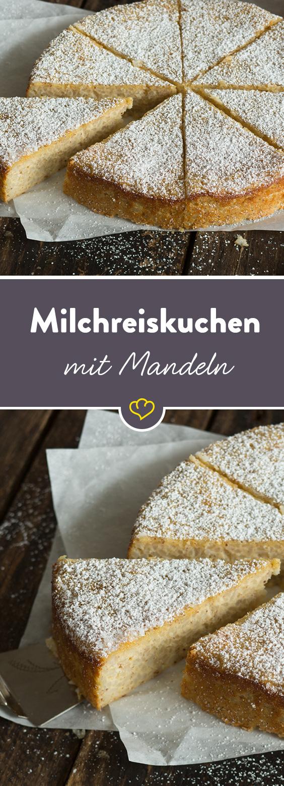 Milchreiskuchen mit Mandeln: stückchenweise Kindheitserinnerungen