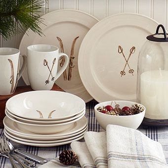 Ski house decor kitchen accessories tableware home for Ski decorations for home
