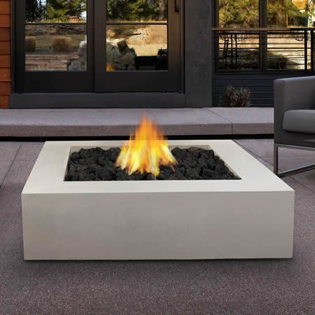 Mezzo Square Fire Table Antique White Woodlanddirect