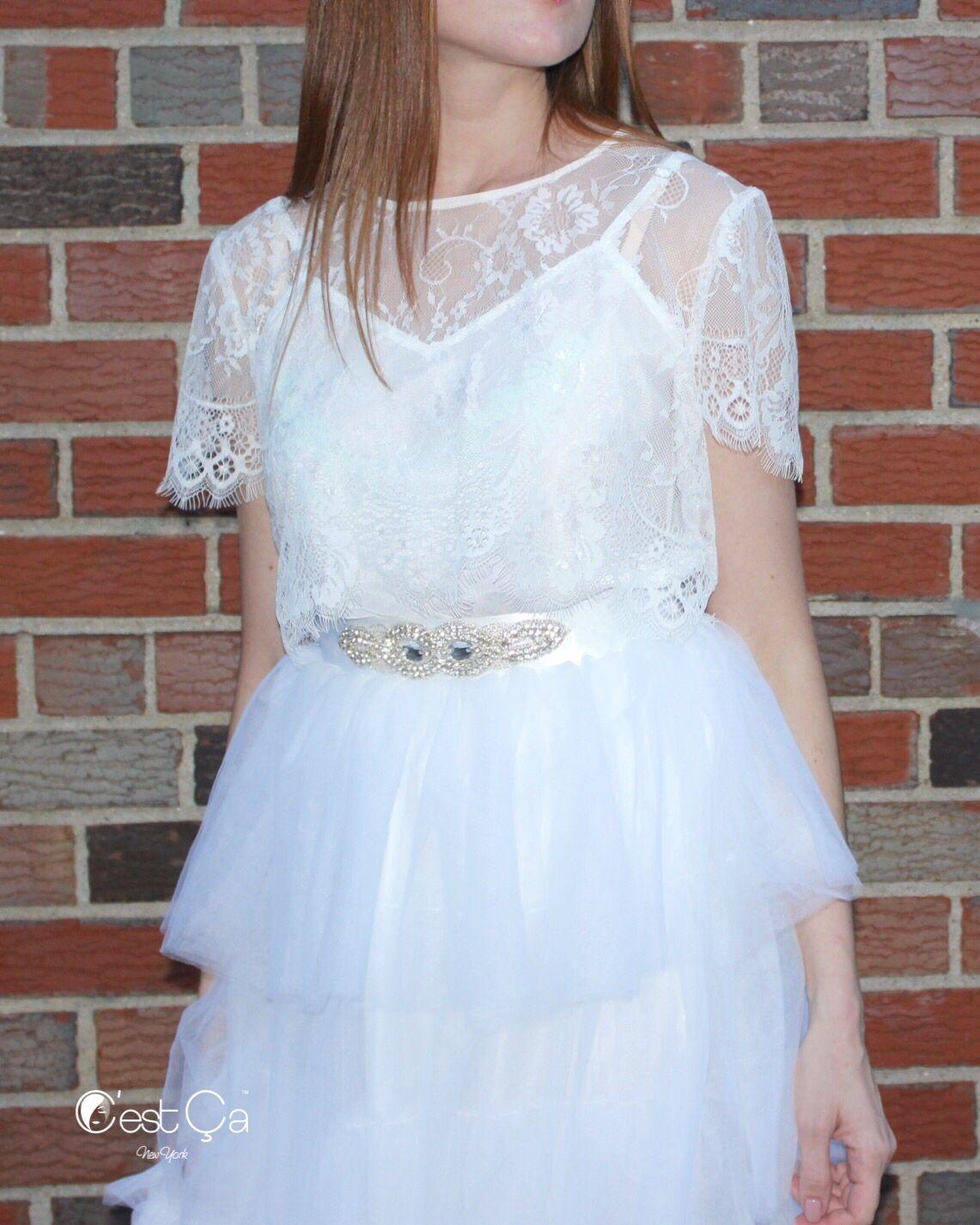 Anne jeweled bridal sash lace bolero wedding and wedding