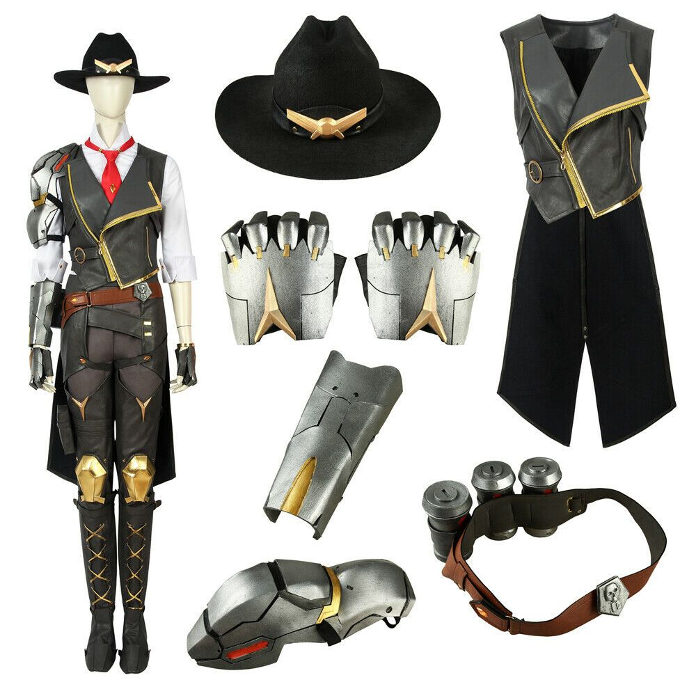 Game Overwatch OW Ashe Elizabeth Caledonia Cowboy Gunner Cosplay Costume Boots